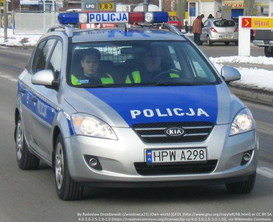 Policja Ruda Śląska: Uczennice Szkoły Podstawowej nr 1 podziękowały służbom za ich wkład w walce z epidemią